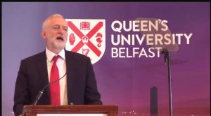 Jeremy Corbyn in Belfast: Irish peace