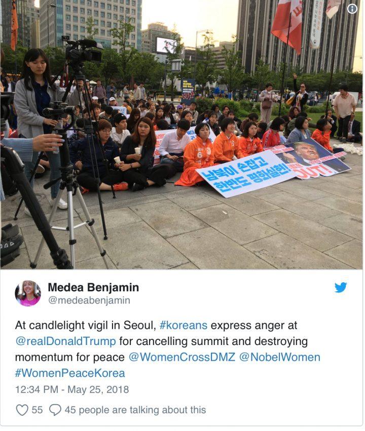 Advertencia contra 'Retorno a la retórica de la aniquilación nuclear', las voces coreanas y antiguerra piden a Trump que reanude las conversaciones de paz