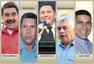 Estos son los candidatos en las Elecciones Presidenciales de Venezuela