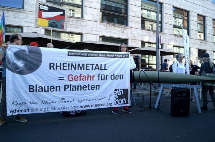 Rheinmetall entrüsten! Waffenexporte stoppen!