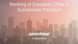 Greenpeace: rapporto sulla mobilità sostenibile nelle grandi città europee