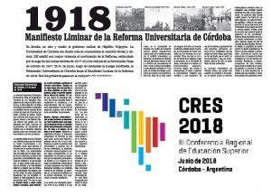 CRES2018, a cien años de la Reforma Universitaria: ¿Qué universidad y para quiénes?