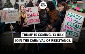 Il Carnevale della Resistenza: Trump non è il benvenuto nel Regno Unito