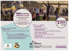 El documental sobre renta básica incondicional se proyectará en Bilbao (España)