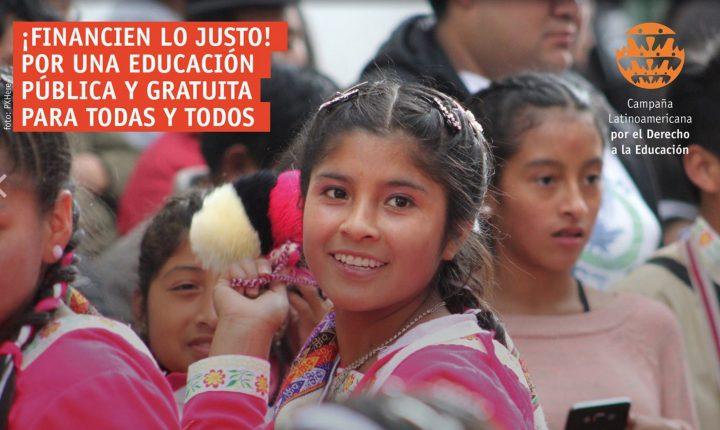 «¡Financien lo justo! Por una educación pública y gratuita para todos y todas (CLADE)