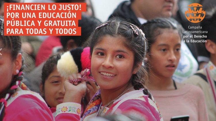 Financien lo justo: Por una educación pública y gratuita para todas y todos.