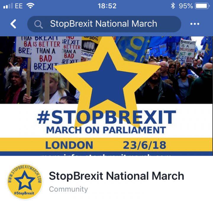 Protesta contra el Brexit: 100.000, tal vez muchos más, exigen una opinión