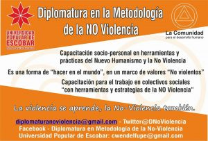 """""""La formació en la no violència em posa en situació de reflexionar"""""""