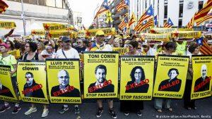 Milers de catalans demanen llibertat pels independentistes presos
