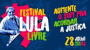 Festival Lula Libre en Río de Janeiro