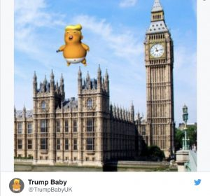 Dopo una sollevazione popolare, un Trump bambino arrabbiato sorvolerà Londra durante la visita del presidente americano