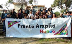 Chile, compartir entre miembros del Frente Amplio y vecinos de Ñuñoa