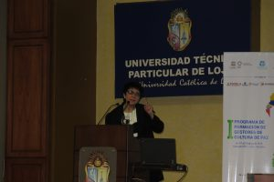 Saadia Sánchez en Loja: «la ética es el eje transversal de la educación y de la vida»