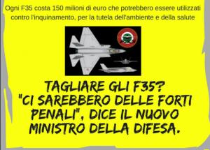La campagna contro i migranti serve a distogliere l'attenzione dall'acquisto di nuovi aerei da guerra dal costo di 150 milioni di euro a esemplare