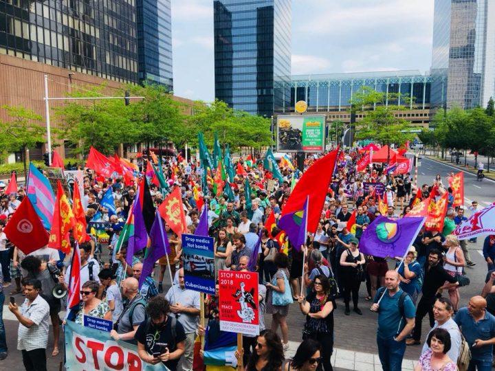 Bruxelles : Marche de protestation avant le sommet de l'OTAN «Make Peace Great Again»