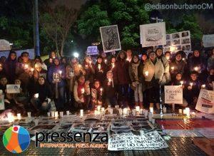 Colombianxs en Argentina se unieron al #VelatónPorLaVida