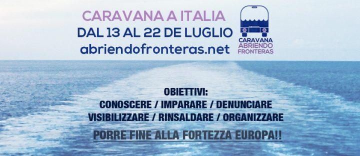 La Caravana Abriendo Fronteras viaja a Italia