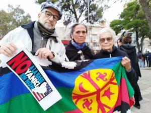 Unas 60 organizaciones marcharon contra base estadounidense en Neuquén