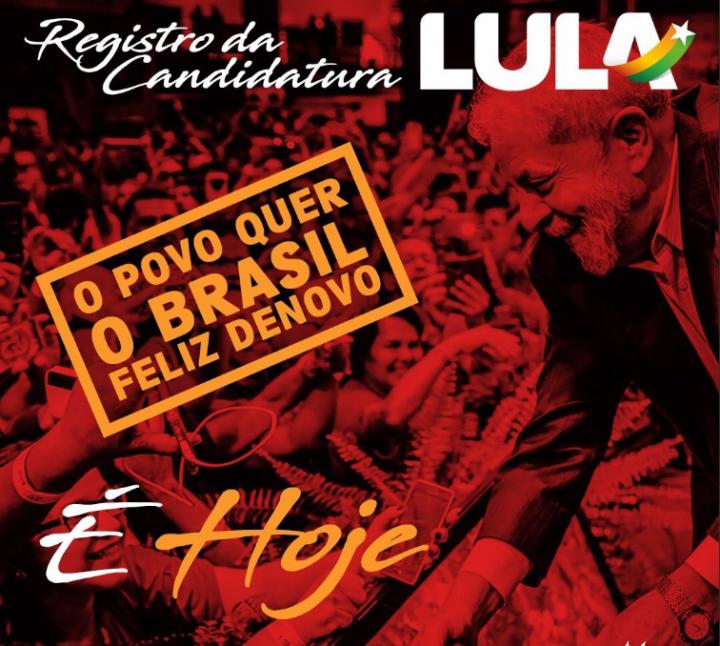 Brésil, 50 000 personnes se sont mobilisées pour enregistrer la candidature de Lula aux élections présidentielles