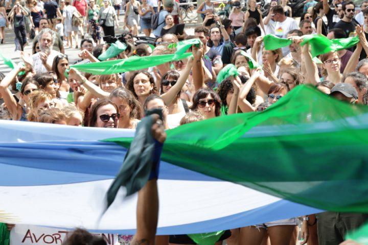 Suport a la legalització de l'avortament a Argentina