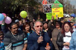 Chile, marcha de allegados en comuna de Peñalolén