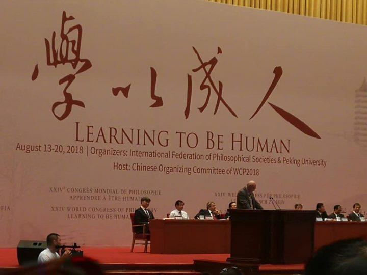 «Aprendiendo a Ser Humano»: Dió inicio el XXIV Congreso Mundial de Filosofía en Beijing