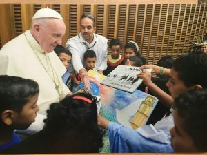 Papa Francesco ha incontrato i piccoli ambasciatori di pace saharawi