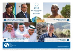 2018 Right Livelihood Award Laureates Honoured Today