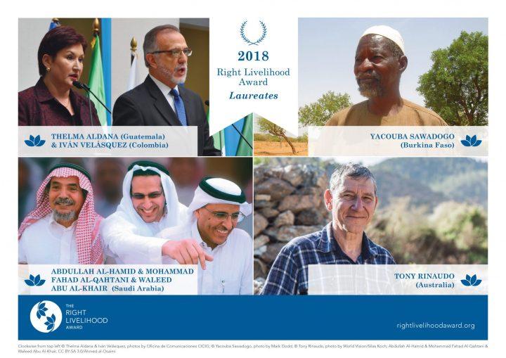 Preisträger des Right Livelihood Award 2018  bekanntgegeben