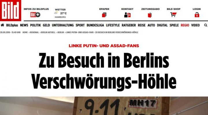 Antecedentes del artículo sobre el Coop Anti-Kriegs Café en Berlín