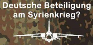 """Aufstehen Basisgruppe Berlin-Mitte: Keine deutsche Beteiligung an """"Vergeltungsschlägen"""" gegen Syrien!"""