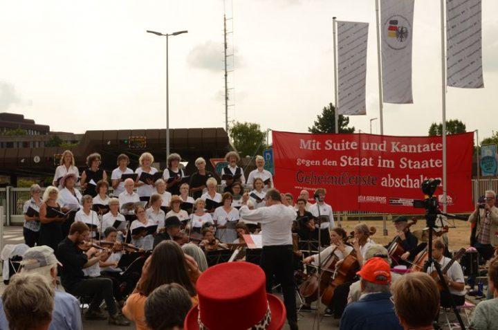 """Musik-Aktion gegen """"Verfassungsschutz"""""""