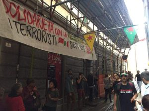 Hoy en Cagliari, en solidaridad con Luisi Caria