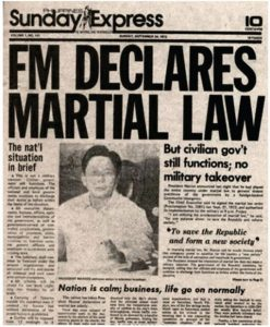 Looking Back To Those Martial Law Days