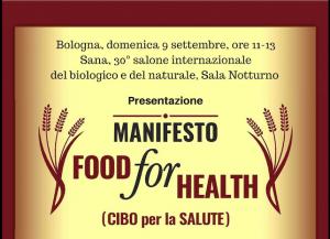 Vandana Shiva presenta il Manifesto 'Food for Health', Bologna, Sana, 9 settembre 2018