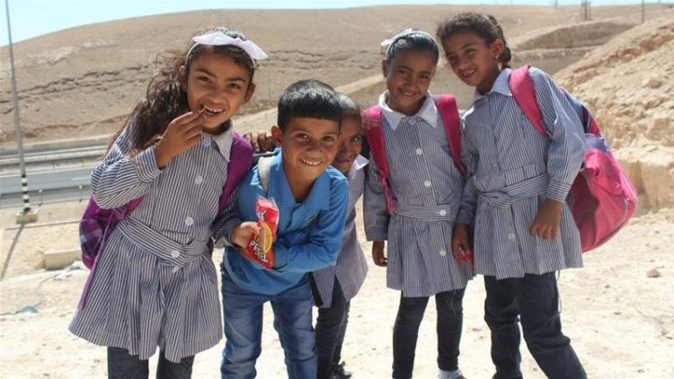bambini di khan al ahmar. credit Shatha Hammad