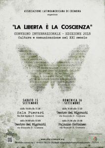 """A Cremona la 4. edizione del Convegno """"La libertà è la coscienza. Cultura e Comunicazione nel XXI secolo"""""""
