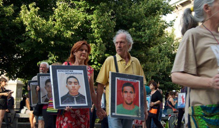 L'algerino Kamel Belabed alla Marcia per i Nuovi Desaparecidos