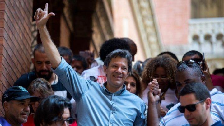 Haddad tilda a Bolsonaro de «amenaza a la democracia» en Brasil