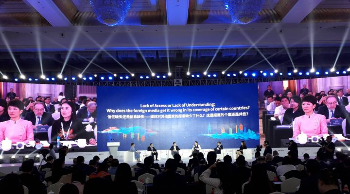Pressenza al CGTN Global Media Summit e al CCTV+ Video Media Forum a Chongqing, in Cina