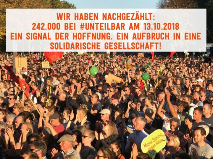 Indivisible – 240,000 demonstrating for solidarity instead of exclusion in Berlin