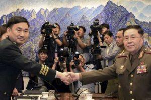 Generales de ambas Corea conversan al Norte del paralelo 38
