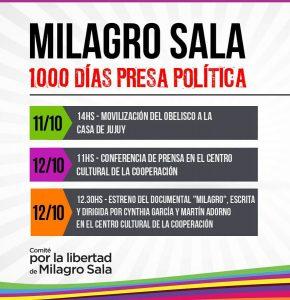 1.000 días de la arbitraria e ilegal detención de Milagro Sala