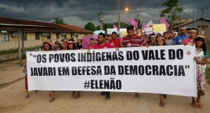 Movimento indígena no Vale do Javari promove ato em defesa da democracia