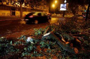 Tormenta tropical Leslie provoca 27 heridos en Portugal