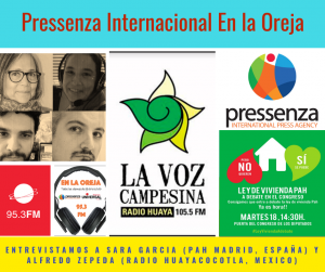 Pressenza Internacional En La Oreja 28/09/2018