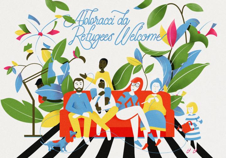 REFUGEES WELCOME realizzata da Alberto Casagrande e Ilaria Cairoli