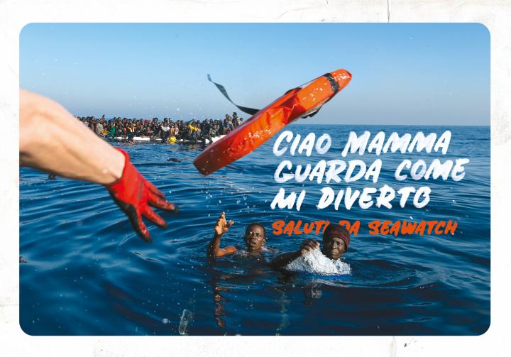 SEA-WATCH realizzata da Gaia Zuccaro e Claudia Marino