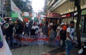 Arrivée de la première Marche sud-américaine pour la Paix et la Nonviolence