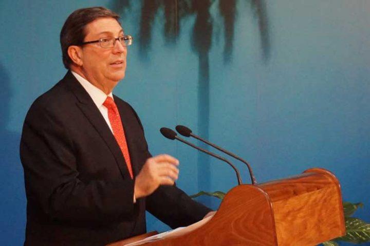 Canciller cubano en Nueva York para votación en ONU contra el bloqueo